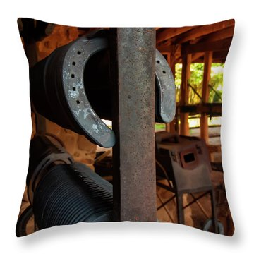 Throw Pillow featuring the photograph Farriers Station by Chris Flees