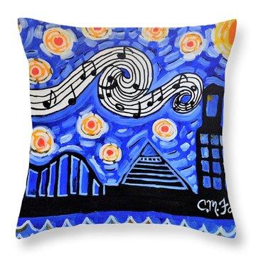 Memphis Nights Throw Pillow