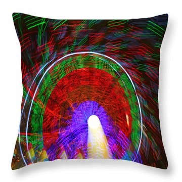 Farris Wheel Crazy Light Abstract Throw Pillow by James BO  Insogna