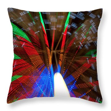 Farris Wheel Light Abstract Throw Pillow by James BO  Insogna