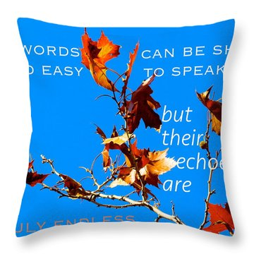 Throw Pillow featuring the photograph Farthest Reach by David Norman