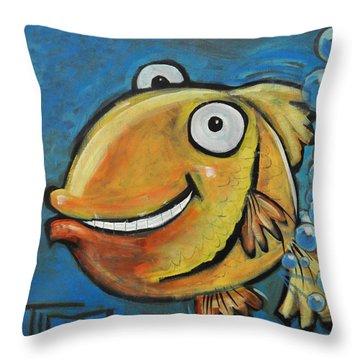 Farting Fish Throw Pillow