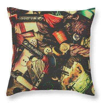 Fashion Designers Desk  Throw Pillow