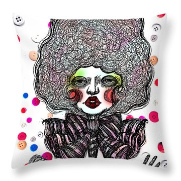 Fashion Doll Throw Pillow