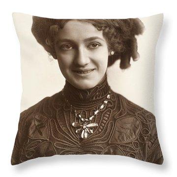 Fashion: Hairstyle, C1900 Throw Pillow