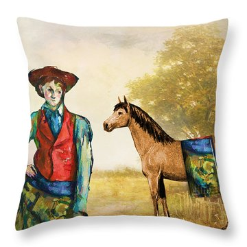 Fashionably Western Throw Pillow