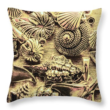 Fashioning A Oceanic Theme Throw Pillow