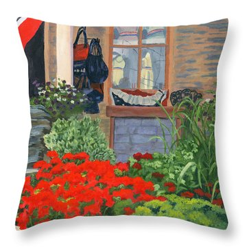 Fashionista Throw Pillow by Lynne Reichhart