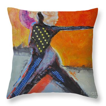 Fashionista Throw Pillow by Ron Stephens