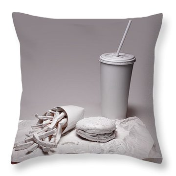 Fast Food Drive Through Throw Pillow