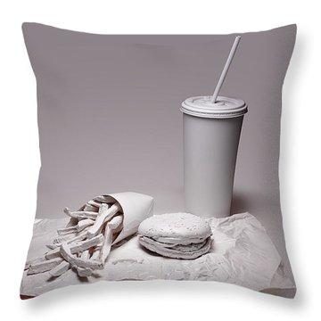 Fast Food Drive Through Throw Pillow by Tom Mc Nemar