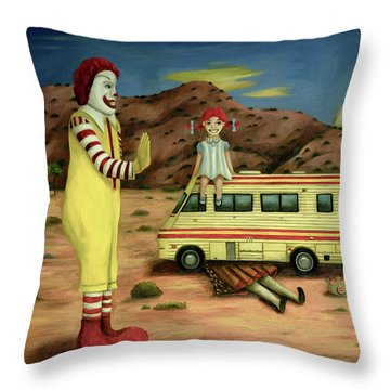 Fast Food Nightmare 5 The Mirage Throw Pillow