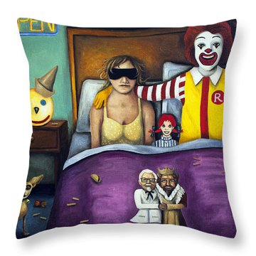 Fast Food Nightmare Throw Pillow