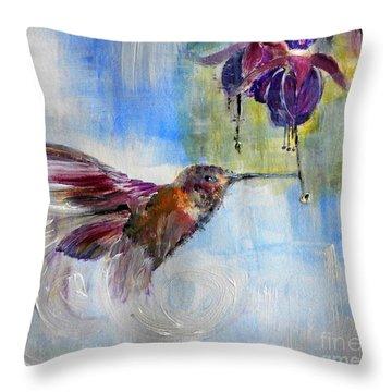 Fast Fuchsia Checkout Throw Pillow by Lisa Kaiser