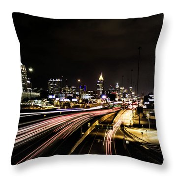 Fast Lane Throw Pillow