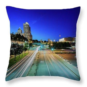 Fast Lane Trails Throw Pillow