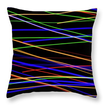 Fast Lanes Throw Pillow