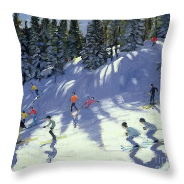 Fast Run Throw Pillow by Andrew Macara