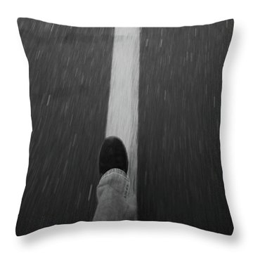 Fast Steppin Throw Pillow by Karol Livote