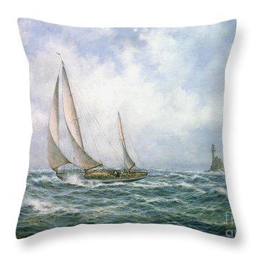 Fastnet Abeam Throw Pillow by Richard Willis