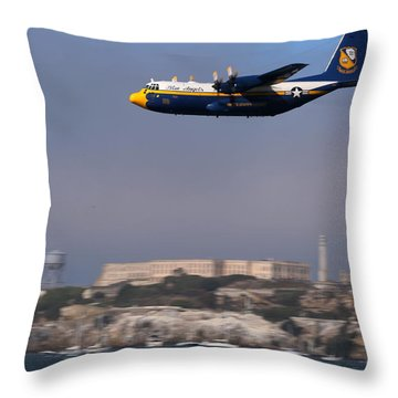Fat Albert Buzzes The San Francisco Bay Throw Pillow
