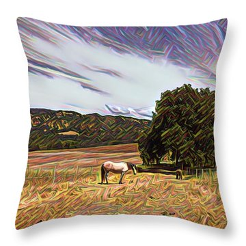 Fat Camp Grazing Throw Pillow