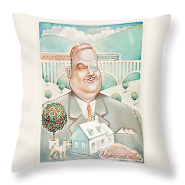 Sir Billiam Throw Pillow