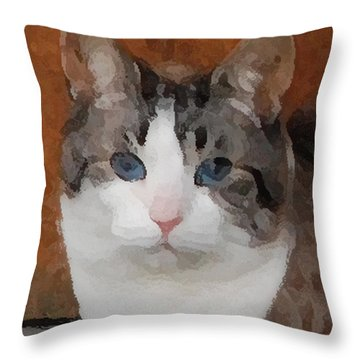 Fat Cats Of Ballard 3 Throw Pillow