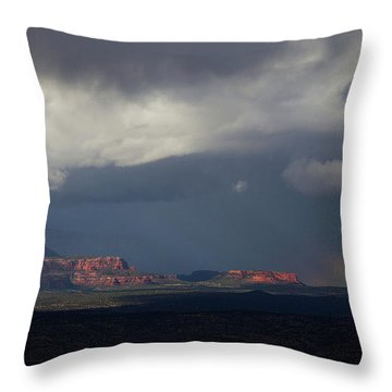 Fat Ground Rainbow, Red Rocks Sedona Throw Pillow