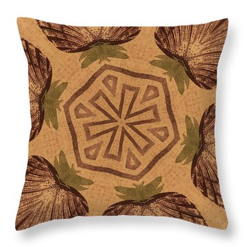 Fat Pineapple And Star Throw Pillow