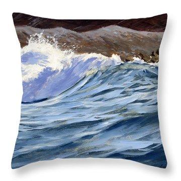 Fat Wave Throw Pillow