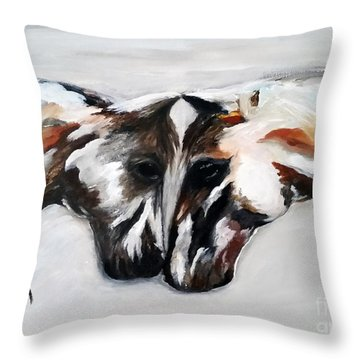 Father And Daughter - Find All The Animals Inside Throw Pillow