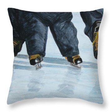Father And Son Skate Day Throw Pillow