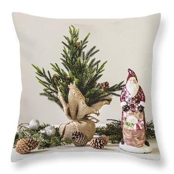 Throw Pillow featuring the photograph Father Christmas by Kim Hojnacki