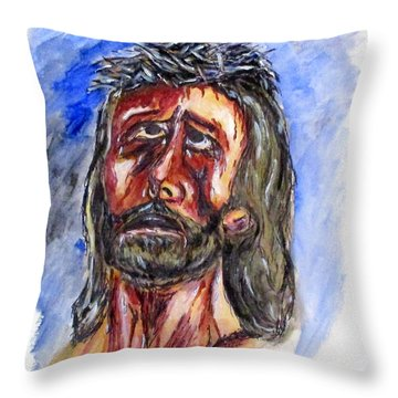 Father Forgive Them Throw Pillow