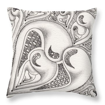 Father Heart Throw Pillow
