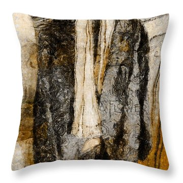 Father's Coat Throw Pillow by Claire Bull