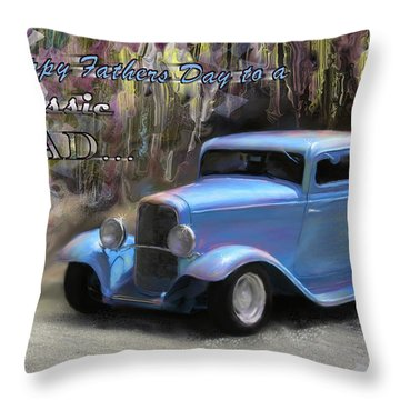 Fathers Day Classic Dad Throw Pillow by Susan Kinney
