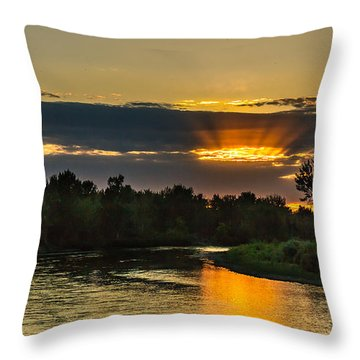 Father's Day Sunset Throw Pillow by Robert Bales