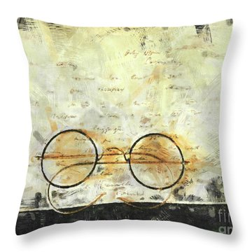 Throw Pillow featuring the photograph Father's Glasses by Claire Bull