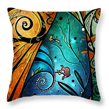 Fathoms Below Throw Pillow