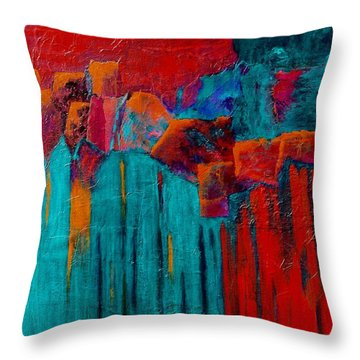 Waterfall Throw Pillow by Nancy Jolley