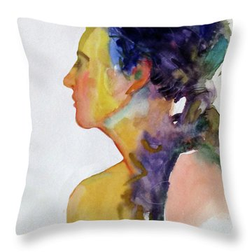 Fauve Profile Throw Pillow