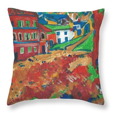 Throw Pillow featuring the painting Fauvism by Janelle Dey