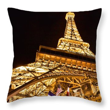Throw Pillow featuring the photograph Faux Eiffel by Kim Wilson