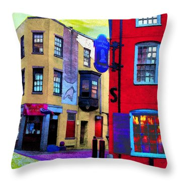Faux Fauve Cityscape Throw Pillow