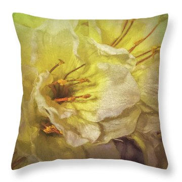 Throw Pillow featuring the photograph Faux Flowers by Lewis Mann