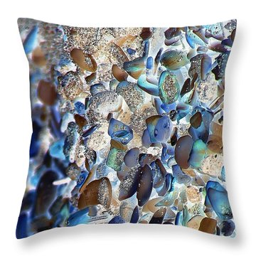 Faux Sea Glass Throw Pillow