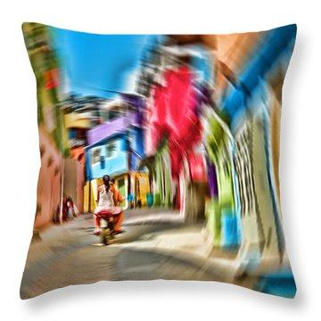 Throw Pillow featuring the photograph Favela Vortex by Kim Wilson
