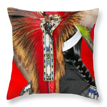 Favored Feathers Throw Pillow